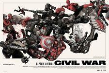Oliver Barrett Civil War Variant Mondo Poster Art Print Licensed by Marvel Comic