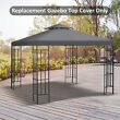 Outsunny 3(m) 2 Tier Garden Gazebo Top Cover Replacement Canopy Roof Deep Grey