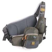 Fly Fishing Sling Pack Bag Outdoor Chest Bag Fishing Sling Backpack Army Green