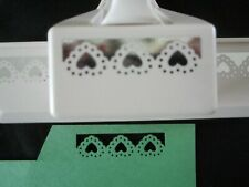 Martha Stewart Border Paper Punch Doily Hearts Gently Used  Free Shipping