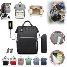 Neu USB+Haken Wasserdicht Mamabeutel Wickeltasche Babytasche Rucksack 2020