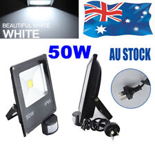 LED flood light 50W Cool white with sensor 240V floodlight Security AU plug Spot