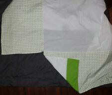 The Land of Nod Crib Skirt WHITE, GREEN, X & O Reversible NEW WITHOUT TAGS