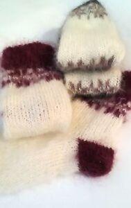Fuzzy socks Mohair Socks Womens socks Hand Knit US10-12 Cuddly Soft Wool socks