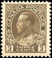 Mint H 1918 Canada F+ Scott #108 King George V Admiral Stamp