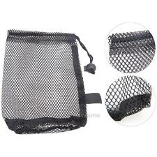 Nylon Mesh Net Bag Pouch Golf Tennis 15 Ball Carrying Holder Storage Bag Closure