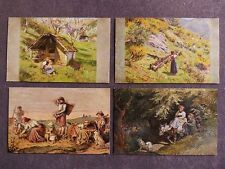 4x Künstlerkarte des Volkskunstverlags / 84