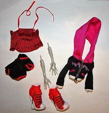 Monster High Doll Ghoulia Yelps Fearleading Fear Squad Outfit Arms Hands Shoes