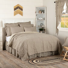 Sawyer Mill Farmhouse Ticking Stripe Quilted Coverlet King Queen Twin 3 Colors
