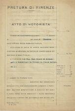 Pretura di Firenze Documento di Richiesta di Risarcimento di Danni di Guerra