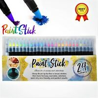 Watercolor Brush Pens 24 Paint Markers with Flexible Brush Tips Professional Set
