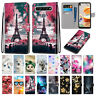 For Samsung Galaxy A3 A5 A6 A7 A9 2018 Leather Flip Wallet Stand Case Cover