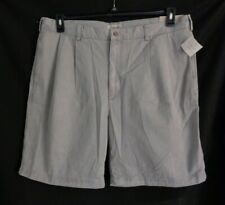 NWT Cubavera Gray pleated shorts men's 44
