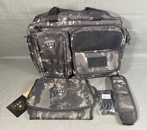 TBG Deuce 2.0 Diaper Bag by Tactical Baby Gear w Changing Mat BLACK CAMO