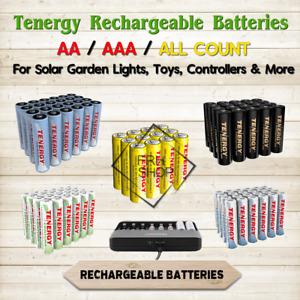 Tenergy Rechargeable Batteries NiMH AA / AAA mAh lot Solar Garden Lights Devices