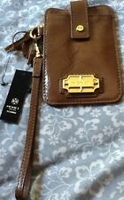 NEW WITH TAGS MONET BROWN LEATHER WALLET IPHONE 5 POCKET