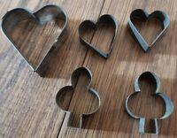Antique Tin Cookie Cutter Heart Pennsylvania Dutch Folk Art Open Back