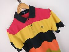 T224 FRED PERRY POLO SHIRT TOP ORIGINAL FADED VINTAGE size S