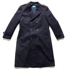 "Men's Vintage 80's Dark Blue Overcoat  Retro 40"" - 42"""" Chest"