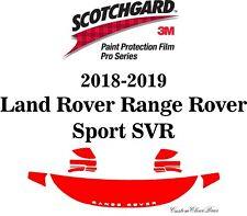 3M Scotchgard Paint Protection Pro Series 2018 2019 Land Rover Range Rover SVR
