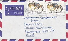 DB597) Nice Papua New Guinea Commercial cover, Cardisoma Carnifex, crabs