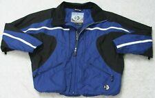 Hardcorps Winter Jacket Coat Blue Black White Nylon Lined 44 Large ZipUp Skiing