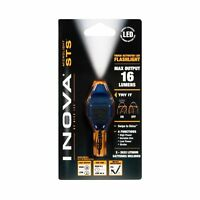 Nite Ize Inova Microlight STS Swipe-To-Shine Blue Keychain LED Flashlight +Biner