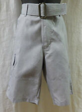 Burnside Dress Short Size 30 NWT Heather Grey Polyester Cargo Web Belt Flat Fron