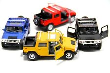 "Set of 4: 5"" Kinsmart 2005 Hummer H2 SUT SUV Diecast Model Toy Car 1:40"