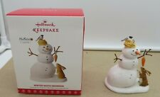 2017 Hallmark Winter White Snowman Ornament Marjolein Bastin