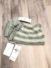 Ralph Lauren Collection ll Grey Striped Htr Bear Beanie Baby Knit Size 6 / 9M