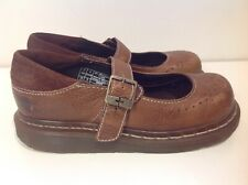 Brown single Strap Leather Doc Dr Martens Mary Janes Womans Size 4 US 3 uk 36 eu
