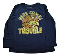 Childrens Kids Black Biker Slogan T-shirt Look Out Here Comes Trouble Top