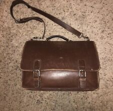 Authentic Coach VINTAGE Leather Brief Case W/ Brass Buckle closure