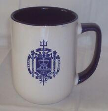 US Naval Academy Crest Coffee Mug ~ White & Cobalt Blue ~ NICE