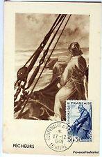 France Carte Maximum  1949 LE PECHEUR  LE HAVRE   Yt 824
