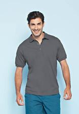 Charcoal Dry Blend Polo Shirt Large Unisex 50/50 Poly Cotton Short Sleeve New