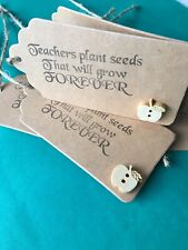 5X Teacher Gift Tags Hand Made Thank You Tags Teaching Assistant