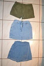 (3) Girls Sz 6X Shorts/Skorts/Skirts Lot: OP shorts,Rt 66 Skirt, Amy Byer Skort