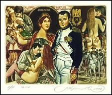 Kirnitskiy Sergey 2012 Exlibris C4 Napoleon and Josephine Erotic Nude Horse 208