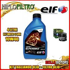 KIT TAGLIANDO 4LT OLIO ELF MOTO 4 SBK 10W40 DUCATI 996 Biposto 996CC 1999- + FIL
