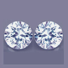 2.18Cts ADMIRABLE Diamond Sparkling Gem ~ Natural WHITE ZIRCON 6.0mm Round 2Pcs