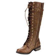 f4e4a466aa5f Women-Knee-High-Lace-Up-Fashion-Military-Combat-