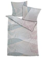4 tlg. Dormisette Mako-Satin Bettwäsche 135x200 cm rose düne weiß #6444/030