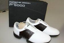 Adidas Porsche Design P 5000 White + Dark Brown Men's Golf Shoes 7 -  9 1/2 New