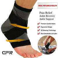 CFR Ankle Support Compression Sleeve Achilles Tendon Brace Sport Sprain Guard OB