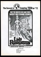 1972 Lady Frankenstein Sarah Bay movie release vintage trade print ad