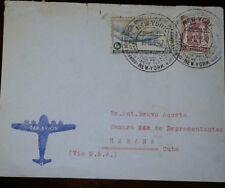 O) 1947 Belgium, Coat Of Arms Sc 277 65c, Dc 4 Skimaster -Sabena Airline Sc C8 6