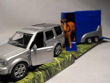 Caballo De Juguete Caja Remolque Coche De Juguete Y Caja De Caballo Figura de caballo de coche modelo # y remolque
