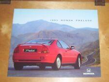 1995 HONDA PRELUDE 2.0i 2.3i 2.2i VTEC SALES BROCHURE Honda UK Pub Nov 1994